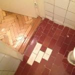 Flooring at the bathroom
