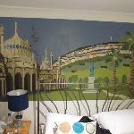family room mural