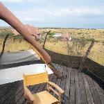 Der Balkon der Lodge/Blick in die Natur