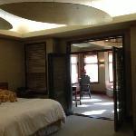 view from bedroom door into sitting area villa 2813