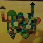 "Art work called ""Gravid stad"" (""Pregnant city"")"