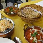 Our food came in lovely Indian pots