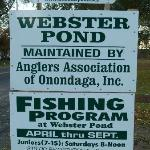 sign at the pond by the road