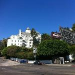 The hotel from Sunset Blvd
