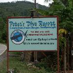 Peter's Dive Resort sign