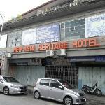 外観は古いが良いホテル