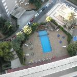 18 floors down to the pool