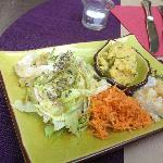 hummus con verdurine