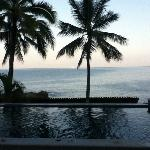 Look at ocean from the private pool