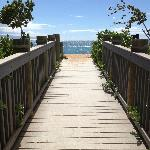 Walkway too the Beach