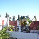 The beautiful terrace