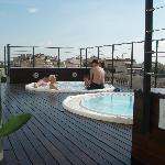 Roof terrace with jacuzzi