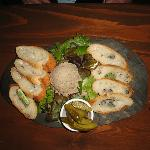 Menu item ~ Truffled duck mousse pate platter