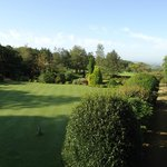 The lovely gardens of Rudloe Hall Hotel