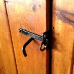 door latches - love this - had to teach the kids how to use them!