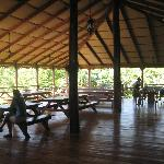 Open air dining over looking the rain forest