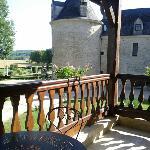 Vue sur le château depuis notre balcon dans le bâtiment annexe