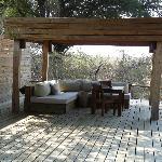 Lounge area outside our villa
