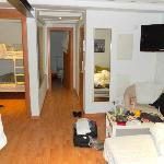 apartment includes one double-deck bed
