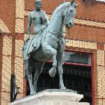Lady Godiva statue - nearby Coventry Cathedral