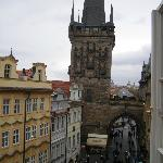 View outside of Charles bridge looking east