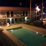 Vue de nuit du motel