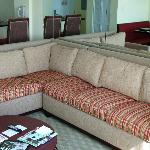Pull out sofa, I believe this would sleep 2 or maybe 3 children