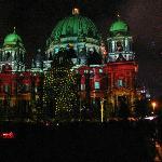 Berliner Dom during Festival of Lights