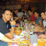 Almorzando delicioso en Santa Ana, Rest. Rincon tipico de El Sopon