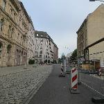 wallstrasse, in front of the hotel