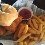 The beer battered fish sandwich was great
