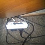 Power point behind TV