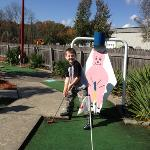 mini golf and BBQ what could be better!