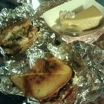 East Meets West, BBQ Meatloaf Stuffed Grill Cheese, Acorn Squash Cheesecake