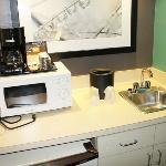 Pequena cozinha no apartamento