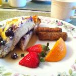 Blueberry French Toast with local maple syurp