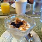 Special mable granola with yougart!  Yum..