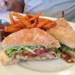 Grilled Redfish Sandwich with special sauce!