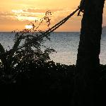 Sunset view from our bure