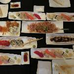 Omakase Selection (minus the hot-pot, seared mackerel, and hamachi sashimi dishes provided befor