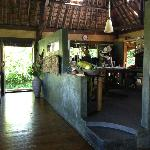 Open kitchen in the bungalow where you have all your meals.