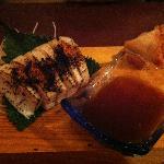 White Tuna and Kimchi sushi
