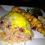 chicken kabab with sour cherry rice is delicious