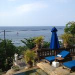 View from Bayu Cottages' restaurant