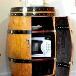 The wine barrel storage