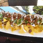 Super Nachos with marinated beef
