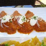 Enchiladas Rojas are incredible!