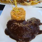 Chicken Mole-- perfectl! tender chicken breast in a rich mole sauce