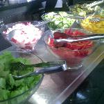 Dozens of fresh salads @ breakfast