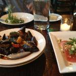 Mussels and starters